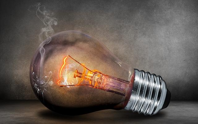 Image of a blown light bulb