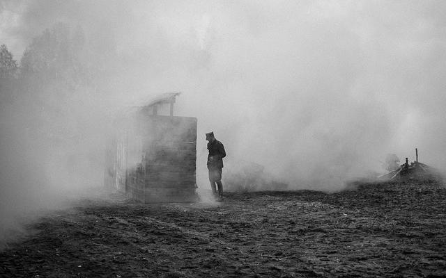 Image of a soldier in dust