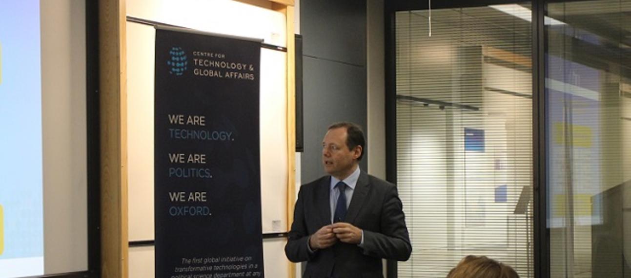Photo of Roberto Viola presenting