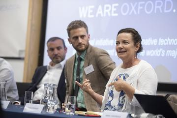 Photo of Laura Edwards speaking on panel two